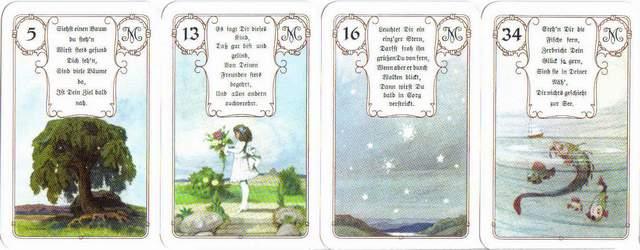 Les différentes versions des  cartes Lenormand Lenormand-1