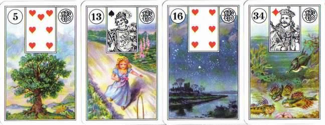 Les différentes versions des  cartes Lenormand Lenormand-2