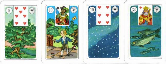 Les différentes versions des  cartes Lenormand Lenormand-3