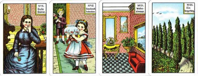 Les différentes versions des  cartes Lenormand - Page 14 Wahrsagen-K
